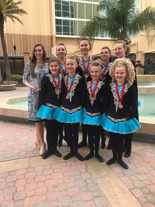 Rince Nua dancers receive awards in both solo and team competitions at the North American Irish Dance Championships in Orlando