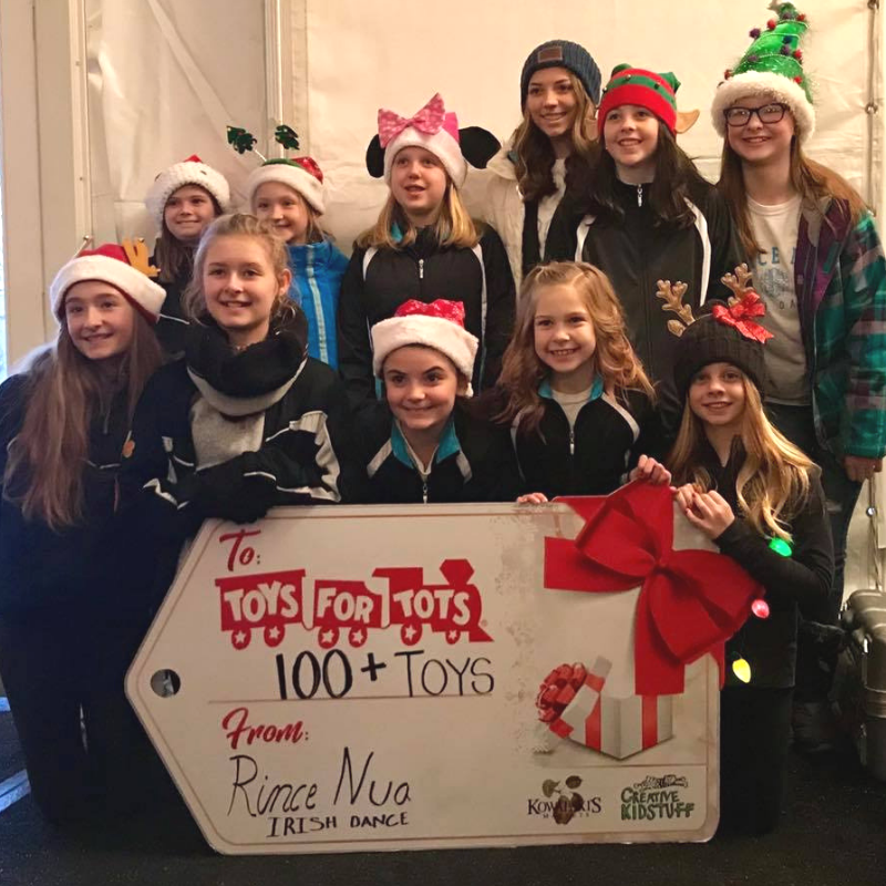 Rince Nua Irish Dancers Donate Toys To Children In Need